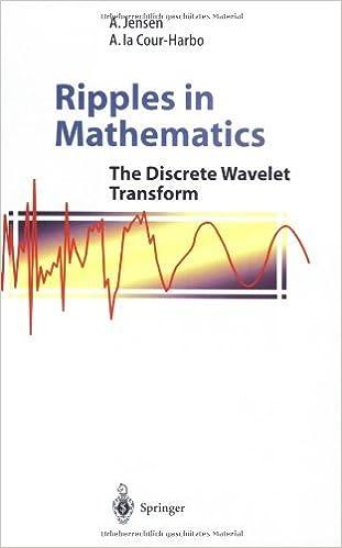 Ripples in Mathematics: The Discrete Wavelet Transform 2001