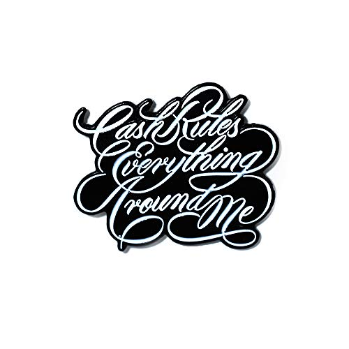 Cash Rules Everything Around Me Wu Tang Clan Hip Hop Enamel Lapel Hat Pin Pendant