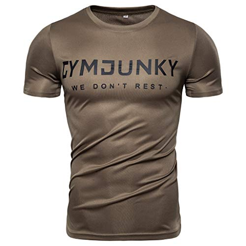 (Mote Mens Clothes, MmNote Gym Athletic Muscle Workout Soft Lightweight Moisture Wicking Performance Short Sleeve Army Green)