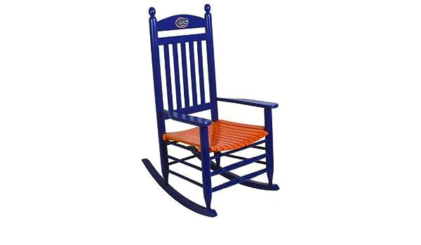 Amazon.com: Florida Gators Painted Wood Rocking Chair In Blue And Orange:  Kitchen U0026 Dining