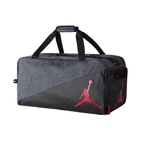 (Nike Jordan Jumpman Sports Elemental Duffel Bag (One Size, black/grey) )