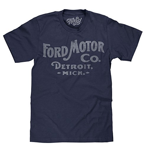 (Tee Luv Ford Motor Company Shirt - Ford Detroit Graphic Tee Shirt (Small))