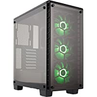 Corsair Crystal Series 460X ATX Mid Tower Computer Case Chassis + Corsair Fan