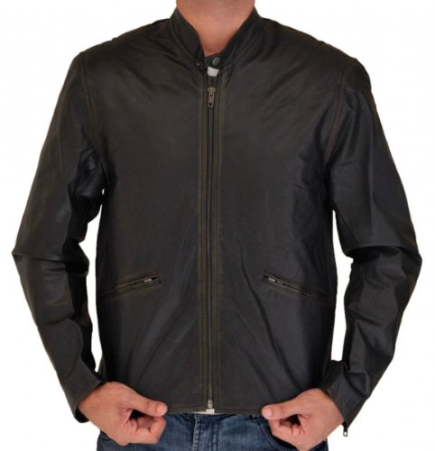 Tron Leather Jackets for Men Moto OuterWear (S)