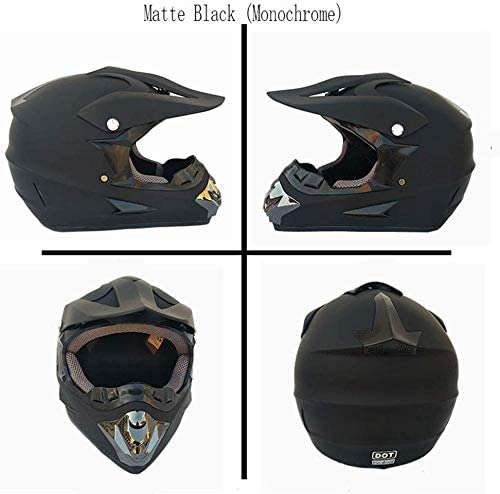 Cheyal Adult Motocross Helm Mx Motorradhelm Atv Scooter Atv Helm D O T Zertifiziert Rockstar Multicolor Mit Brillen Handschuhen Maske Stierkampf S M L Xl M Sport Freizeit