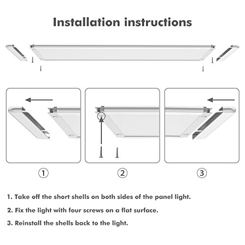 Under Cabinet Lighting, OxyLED Under Cabinet Lights, Extra Large Panel LED Under Cabinet Light, Dimmable LED Under Counter Lights for Kitchen, Art Studio, Attic (12W, 750lm, Warm White 3000K) by OxyLED (Image #5)