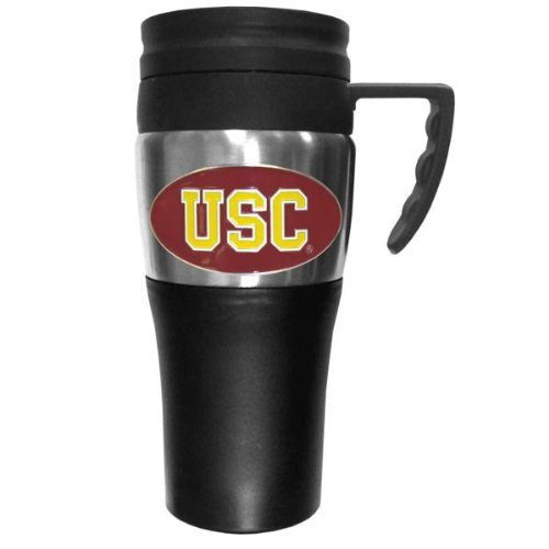 NCAA USC Trojans Unisex Travel Mug, Steel, 14 oz (Mug Usc)