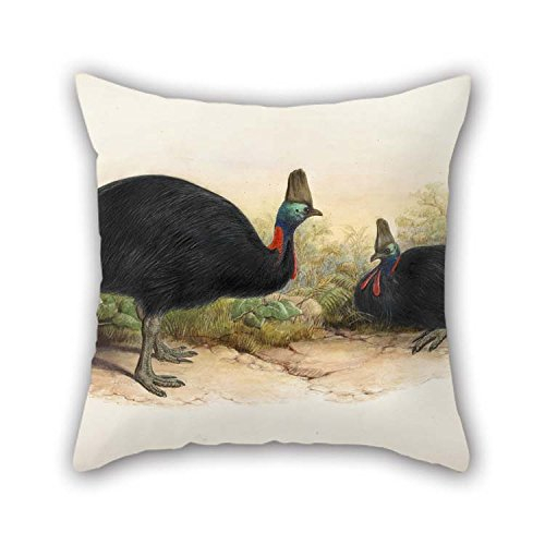 Oil Painting Henry Constantine Richter - Southern Cassowary, Casuarius Casuarius Pillow Shams 20 X 20 Inches / 50 By 50 Cm Gift Or Decor For Her Bedding Saloon Son Living Room Kids Girls - Each Si ()