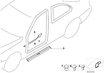 bmw genuine door sill trim clip clamp (51 71 8 151 484)