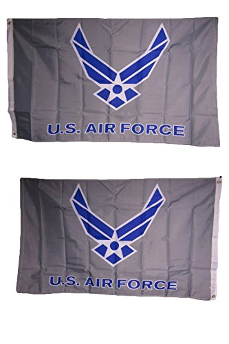 3x5 Air Force Wings Grey Heavy Duty Polyester Nylon 200D Dou