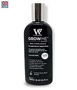 Mejor crecimiento del cabello Champú Sulfato libre, cafeína, Biotina, aceite de argán, Alantoína, Romero. Estimula Cabello, ayuda a evitar la pérdida de cabello, crecer Cabello rápido, pérdida de pelo tratamiento para los hombres y las mujeres