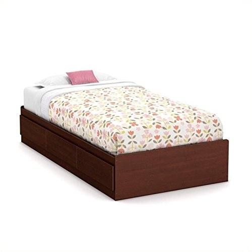 South Shore Summner Breeze Twin Storage Bed Royal Cherry
