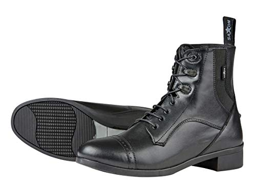 Saxon Childs Syntovia Lace Paddock Boot 4 Black