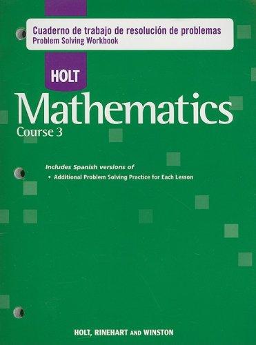 Descargar Libro Holt Mathematics Course 3: Problem Solving Workbook Holt Rinehart & Winston
