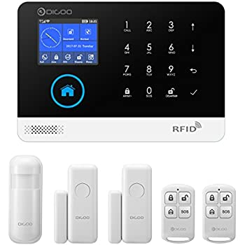 DIGOO Wireless Home and Business Security Alarm System, With Auto Dial and APP Control Function, Come with PIR Detector, Doorbell Button, Door Window Sensor, and Remote Controller(Model:DG-HOSA)