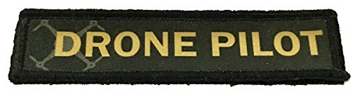 1x4 Drone Pilot Morale Patch. 1x4 Hook Velcro Made in The US