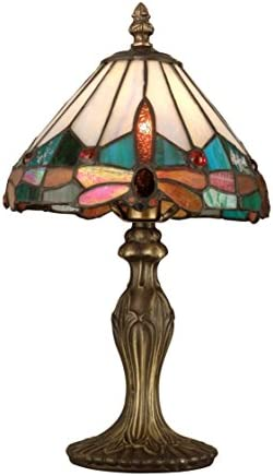Dale Tiffany TA10606 Tiffany Mica One Light Table Accent Lamps Collection in Bronze Dark Finish, 7.75 inches, Brass