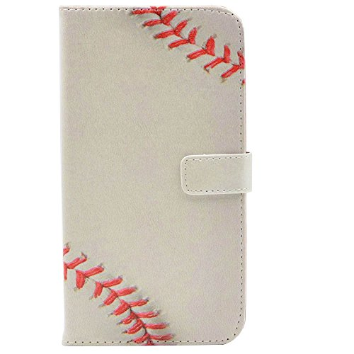 Leather Baseball Cell Case - 6