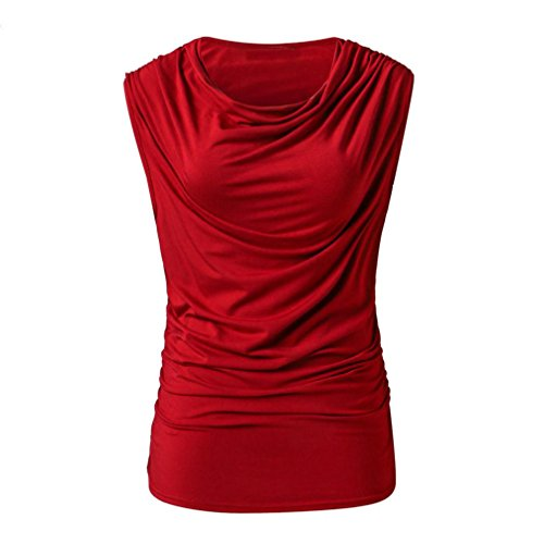 UONQD Woman Tops Ladies for Women Off The Shoulder Long Tunic Going Out Cute Trendy Lace top Party Cotton Blouses Womens Shirts Summer Dressy Halter red (X-Large,Red)