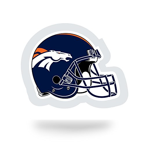NFL Denver Broncos  Team Tattoo, Blue, Orange, 5-inches by 3.5-inches by 0.2-inch