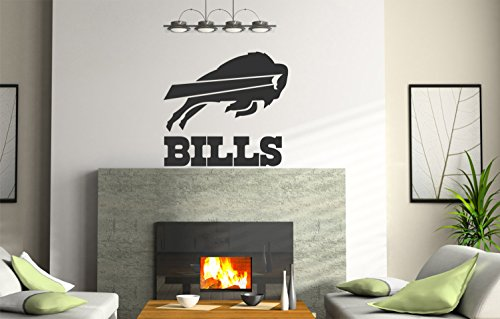 NCAA Buffalo Bills logo Wall Decal Vinyl Sticker mural graphics home decor NFL fan room customization