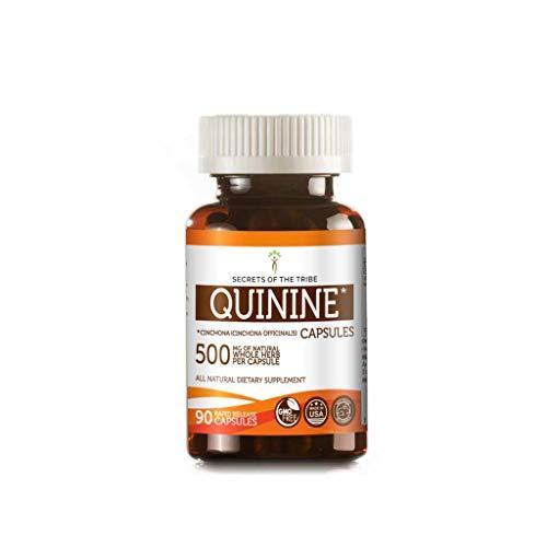 Water Quinine (Quinine 90 Capsules, 500 mg, Organic Quinine (Cinchona officinalis) Dried Bark (90 Capsules))