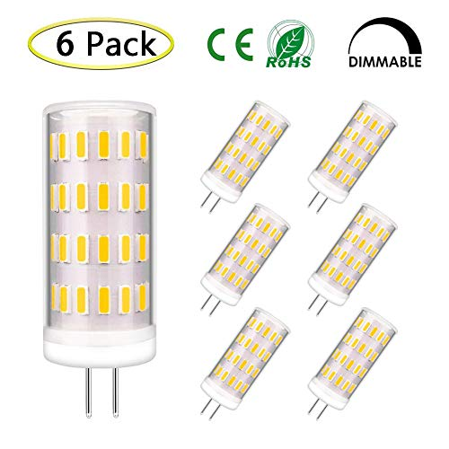 G4 LED Bulb Dimmable, Bi-pin G4 Base, AC/DC 12V-24V 4W Equivalent to 30W-35W T3 JC Type Halogen Bulb Replacement, Warm White 2700K-3000K G4 LED Light Bulb (6 Pack) ()
