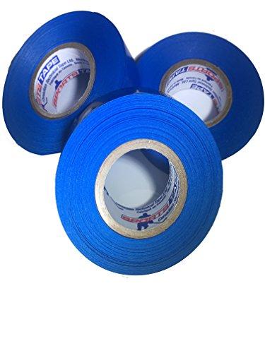 3 Pack Sports Tape Hockey Shin Guard and Soccer Shin Guard Tape Sock Tape (Blue)