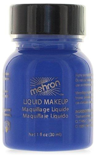 Mehron Makeup Liquid Face and Body Paint (1 oz) (BLUE)