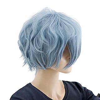 GZIRUE Anime Blue Short Curly Wig Party Halloween Daily Anime My Hero Tomura Shigaraki Cosplay Costume Men Hair Wigs