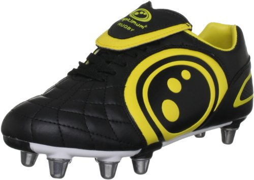 Optimum Eclipse - Zapatillas de rugby Negro/ amarillo (Black/ yellow)