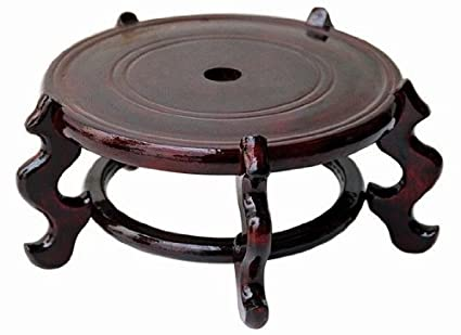Amazon Hand Crafted 5 12 Inch Rosewood Oriental Vase Stand