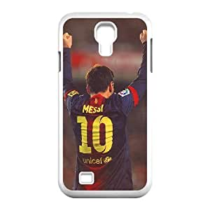 Bloomingbluerose Lionel Messi Samsung Galaxy S4 Case Cute Lionel Messi, FC Barcelona., Samsung Galaxy S4 Cases For Girls Cheap [White]
