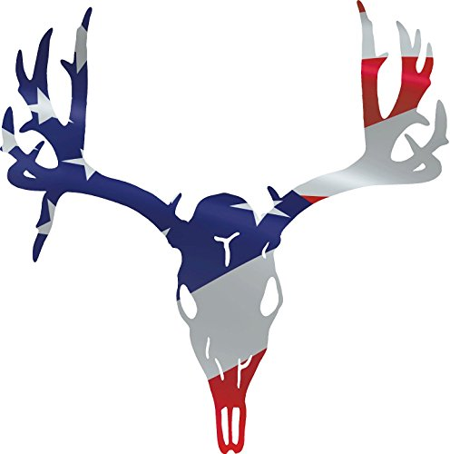 Deer Skull American Flag Hunting Decal 12x11.75 Inches
