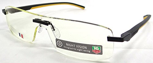 Tag Heuer Automatic Night Vision Yellow Tint Racing Glasses Th 3583 099 65x00 ()