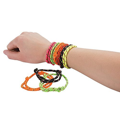 Fun Express 72 Nylon Friendship Rope Bracelets
