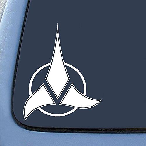 "Klingon Empire Symbol Sticker Decal Notebook Car Laptop 5"" (White)"