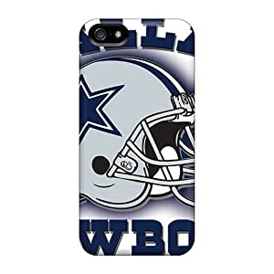 Ntgbw2326RnUyD Tpu Phone Case With Fashionable Look For Iphone 5/5s - Dallas Cowboys Helmet Team