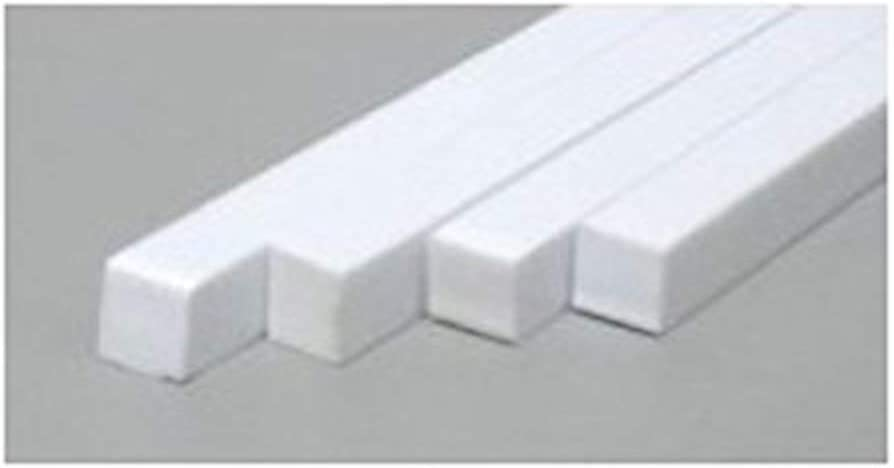 8 24 Long Opaque White Styrene Strips .060 Thick .438 Wide pkg