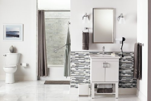 Moen YB5124BN Voss 24-Inch Bathroom Towel Bar, Brushed Nickel by Moen (Image #2)