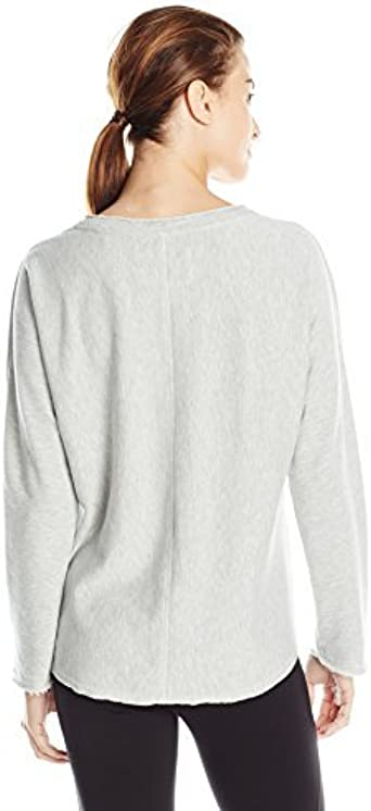 Marc New York Performance Womens Long Sleeve High Low Pullover with Embellishment