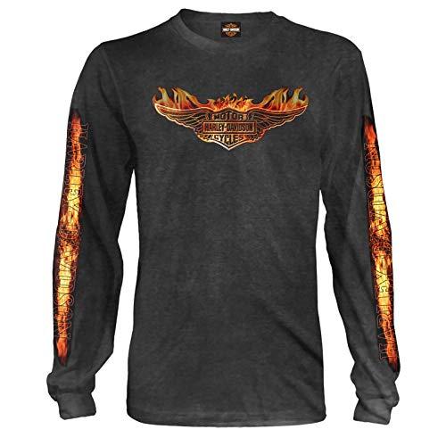 Harley-Davidson Military | Men's Long-Sleeve Graphic Tee - Bagram Air Base | Burning MD