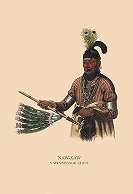 "Naw-Kaw (A Winnebago Chief)Fine art canvas print (20"""" x 30"""")"