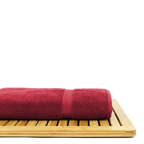 BC BARE COTTON Bare Cotton Luxury Hotel & Spa Towel Turkish Bath Sheets Dobby Border (Cranberry, Bath Sheets - Set of 2) by BC BARE COTTON (Image #6)