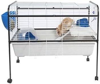 Pie de conejo y cobaya Jaula – perfecto para pequeños animales, como Conejos y conejillos de Indias – Incluye una escalera, alimentador Tazón, y una botella de agua: Amazon.es: Productos para mascotas