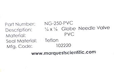 New Marquest Scientific Ng-250-pvc Needle Valve Ng250pvc by Generic