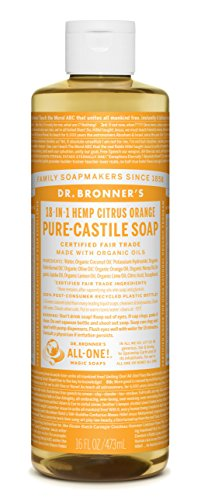 Dr Bronner Orange Soap (Dr. Bronner's Fair Trade & Organic Castile Liquid Soap - (Citrus Orange, 16 Fl Oz))