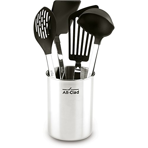 All-Clad K040S564 Stainless Steel Non-Stick Kitchen Tool Set, 5-Piece, Silver