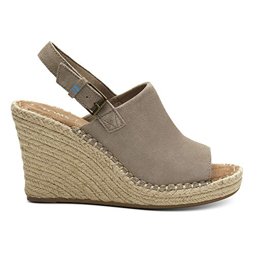 (TOMS Desert Taupe Suede Women's Monica Wedges (Size:)