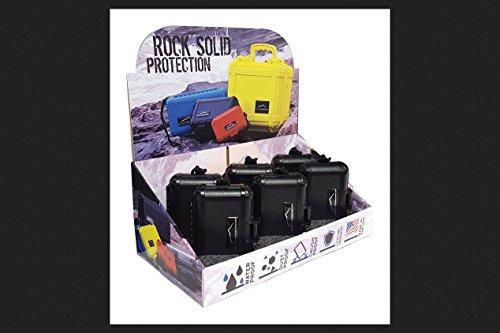 Boulder Case Company J10003 Storage Box, Black, 4 Oz (Pack of 6)